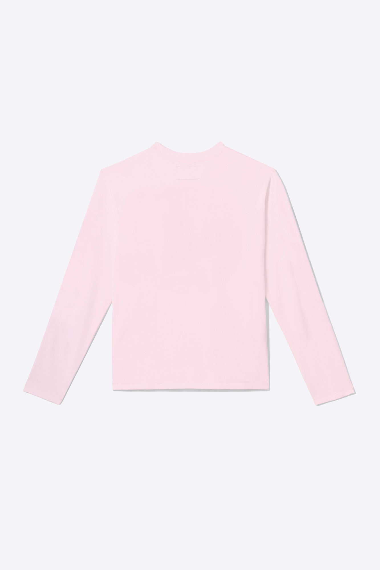 Pale Pink Organic Cotton Long-Sleeve