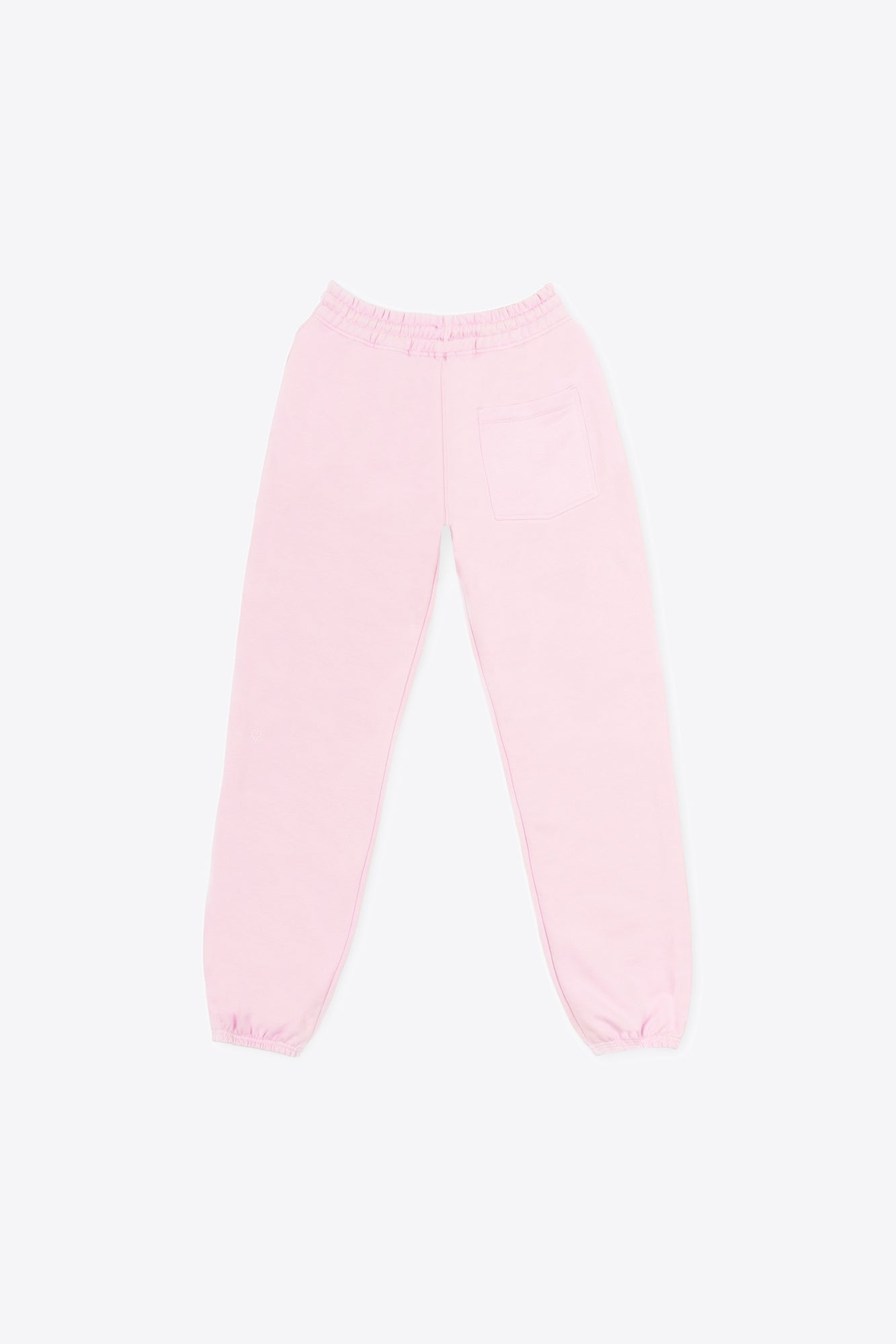 Pale Pink Tonal Embroidered Sweatpants