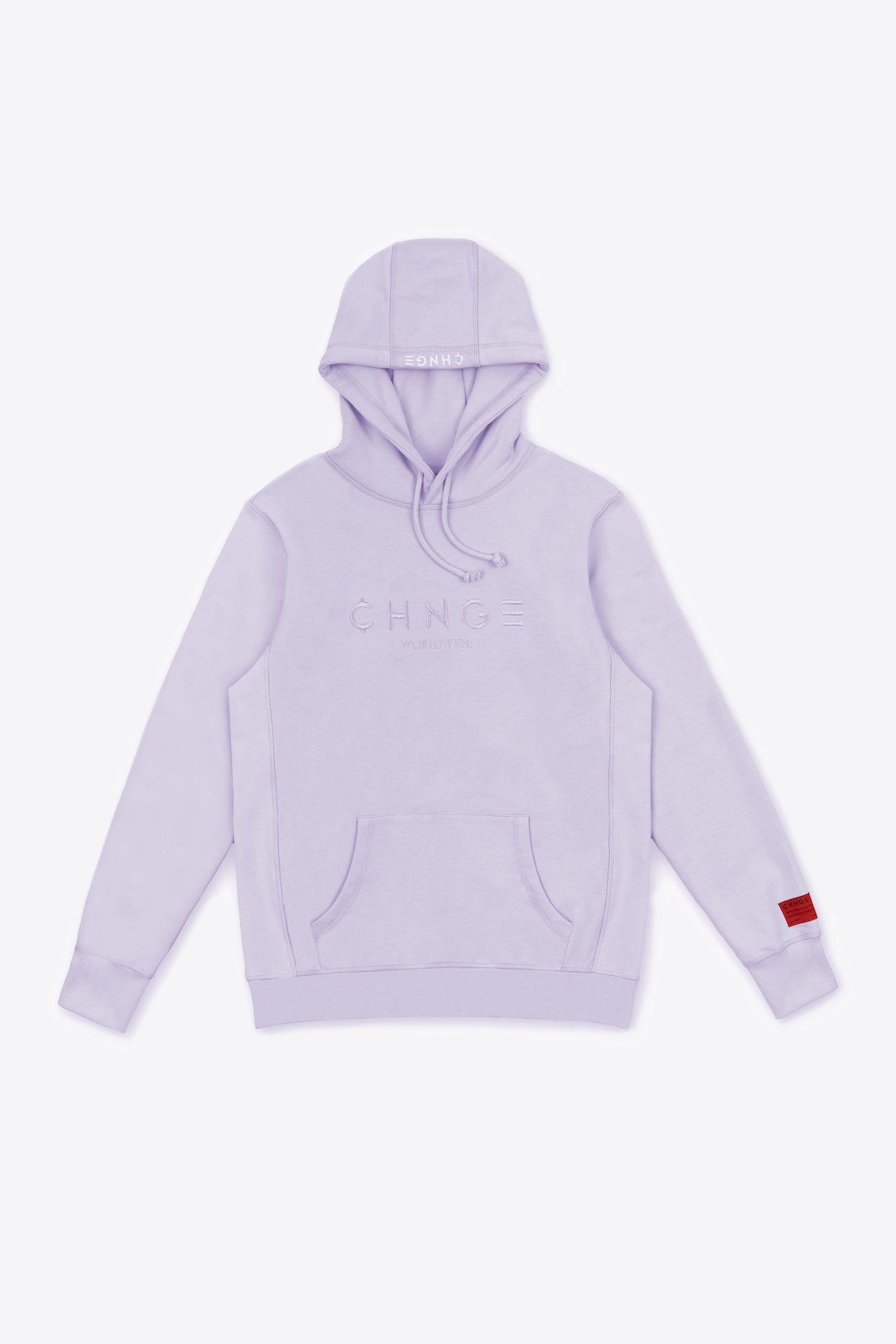 Violet Tonal Embroidered Hoodie