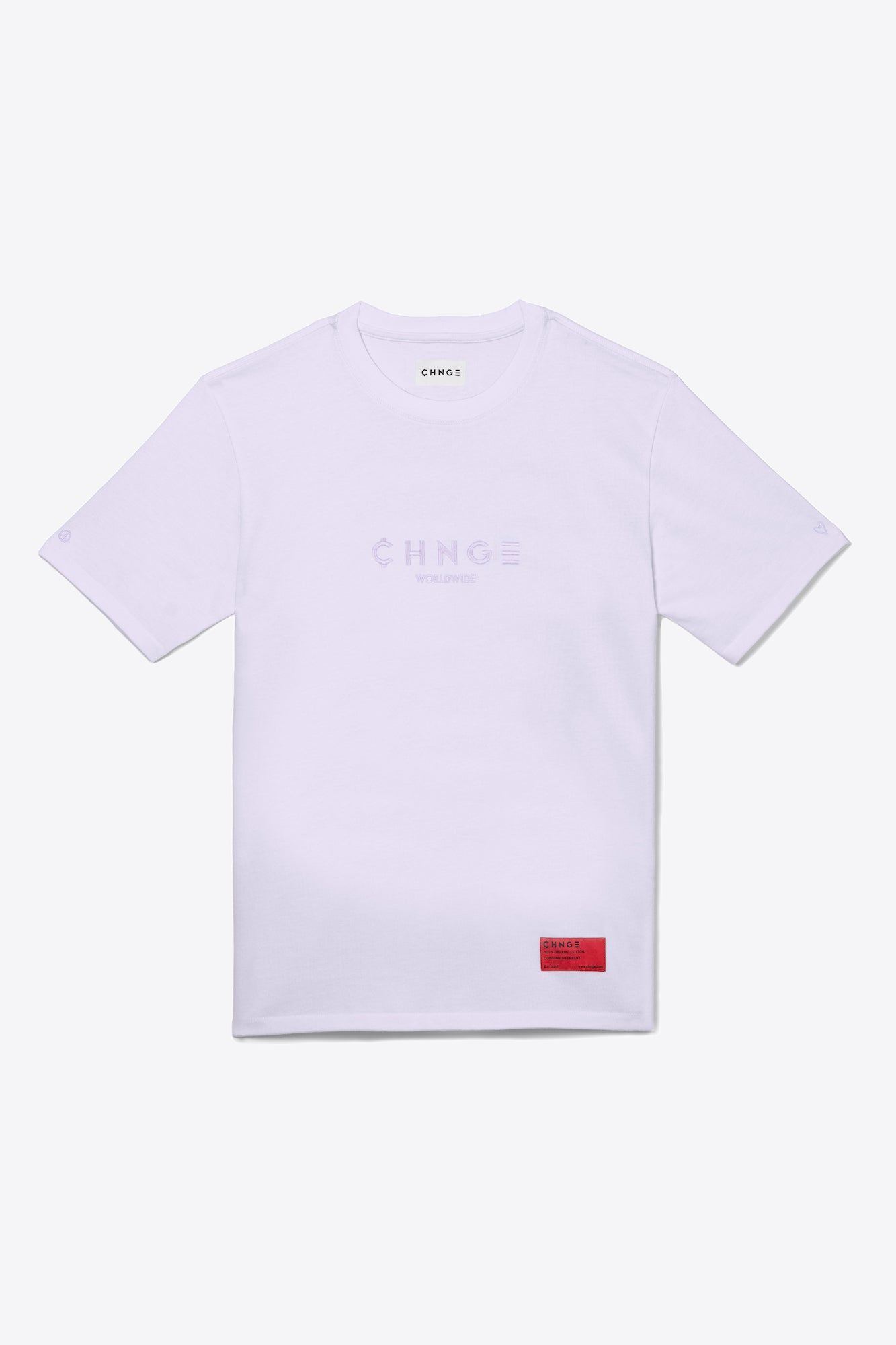 Violet Tonal Embroidered Tee