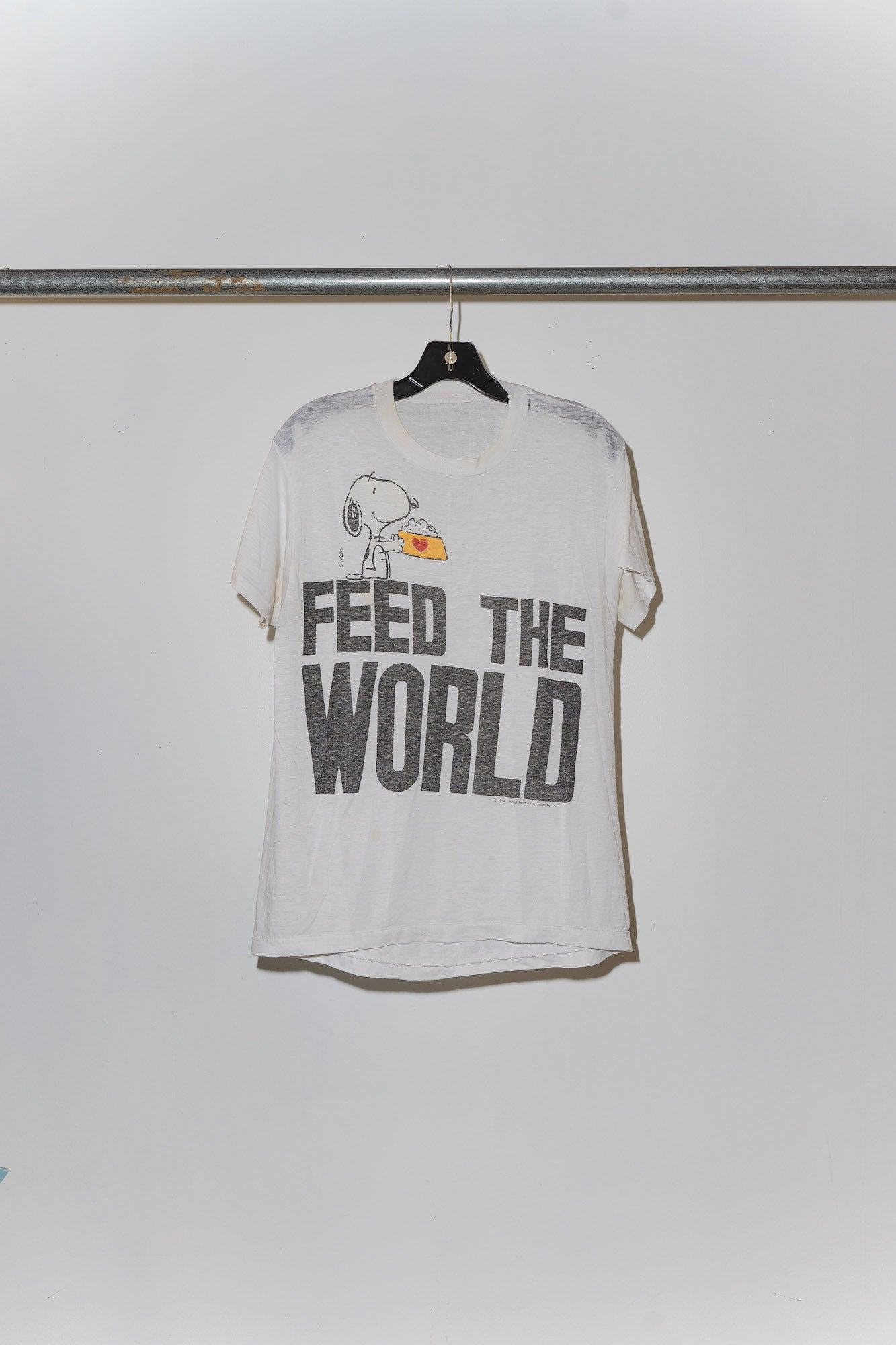 Snoopy Feed The World Tee - S