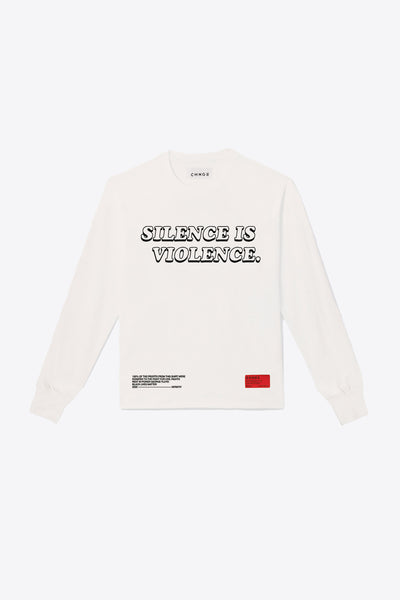 Silence is Violence Long Sleeve (Chalk)