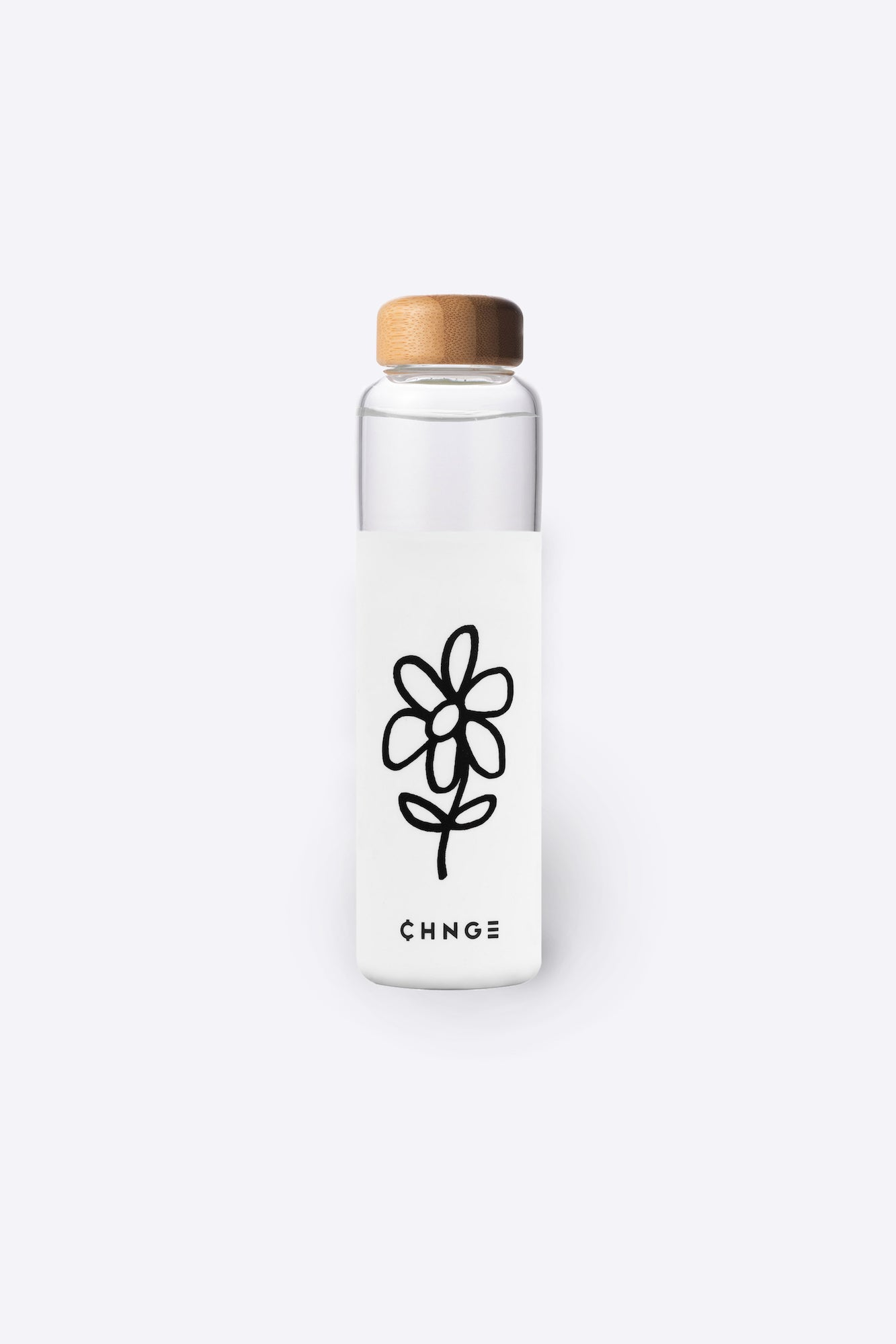 Flower Water Bottle (White)