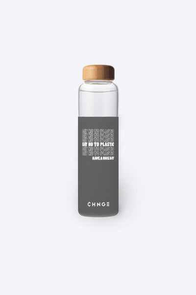 Say No To Plastic Water Bottle (Grey)