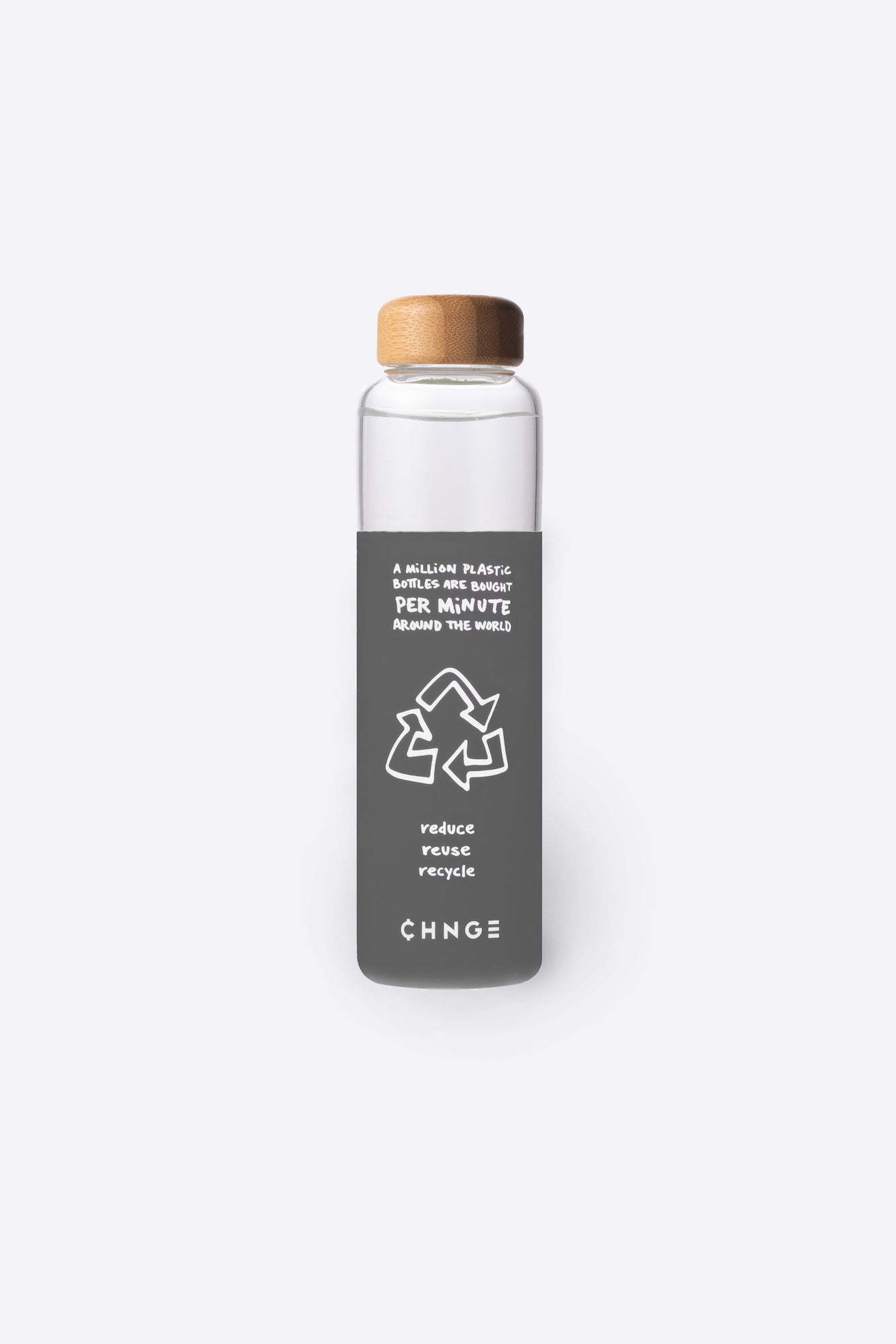 One Million Bottles Water Bottle (Grey)