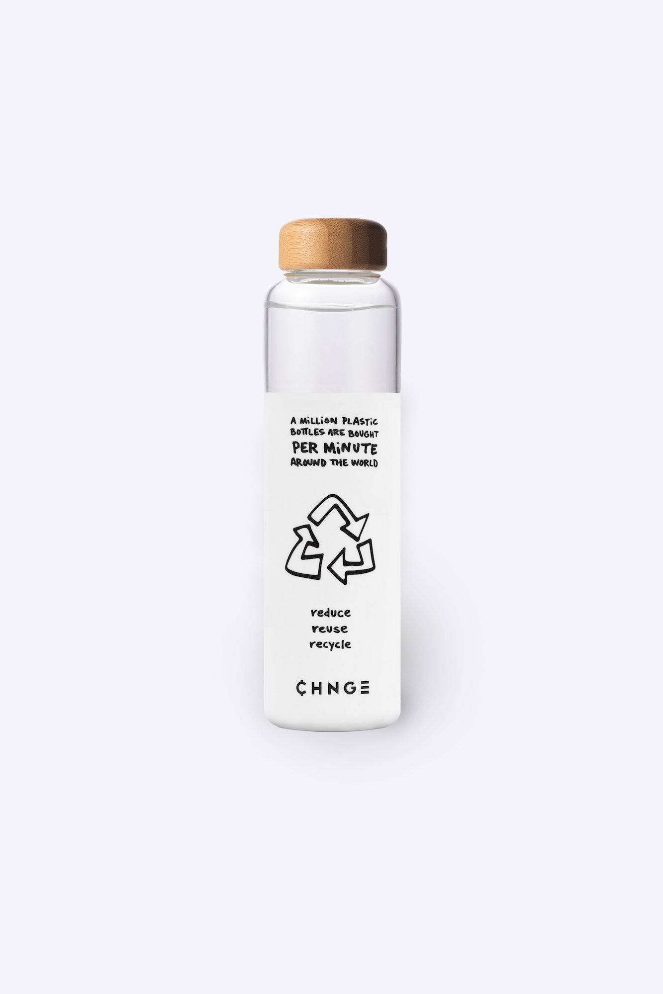 One Million Bottles Water Bottle (White)