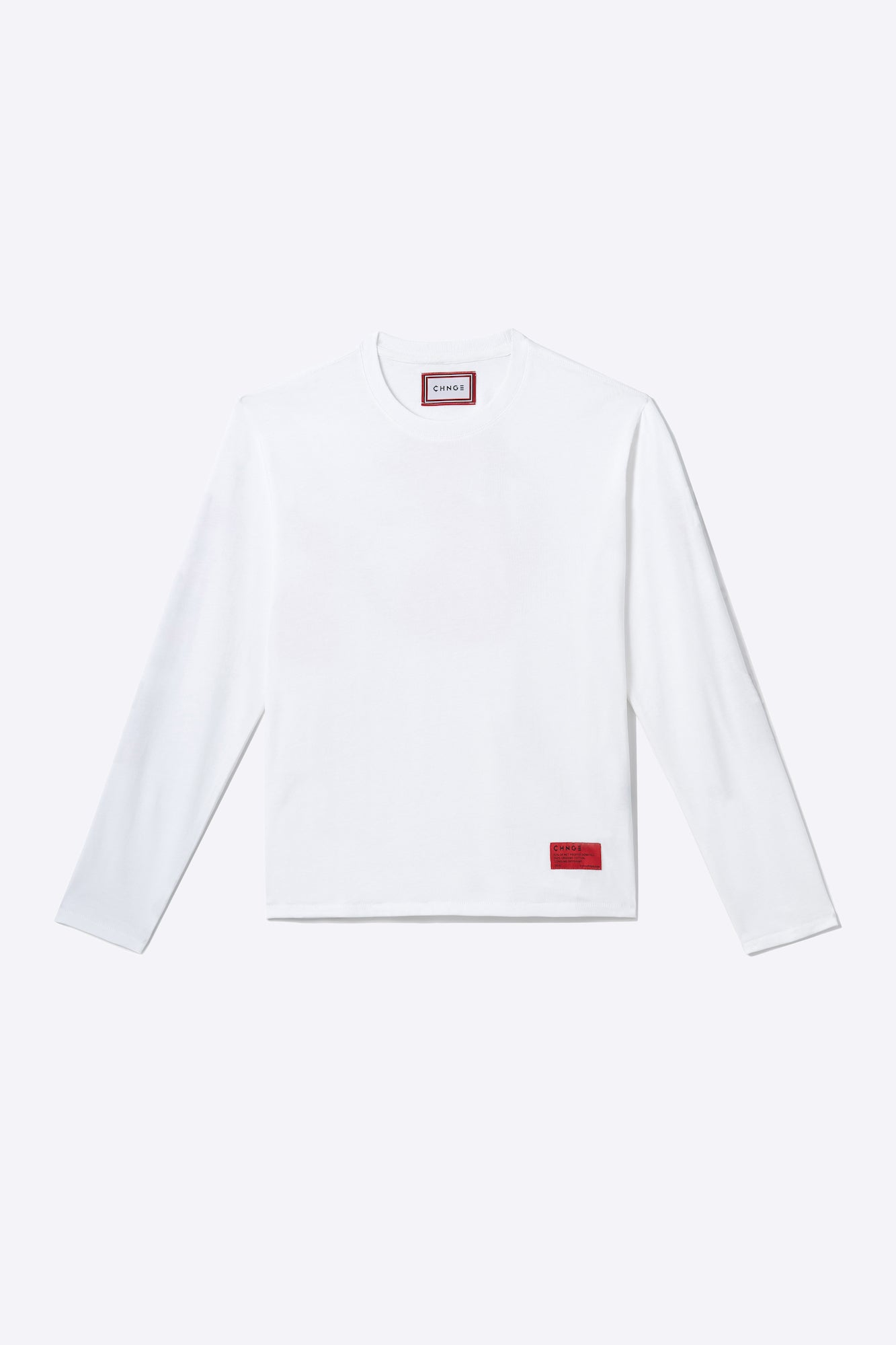 White Organic Cotton Long-Sleeve