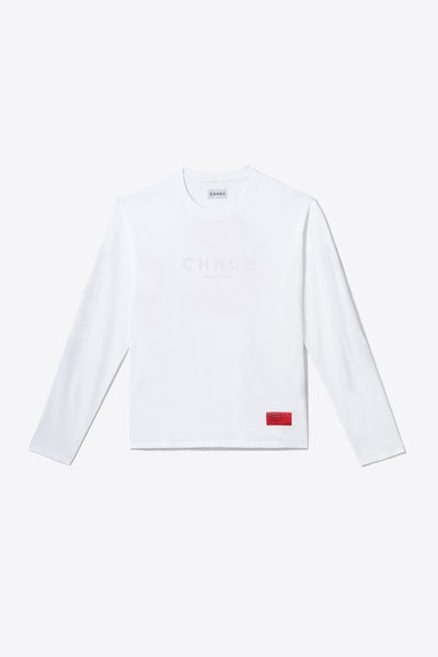 White Tonal Embroidered Long Sleeve