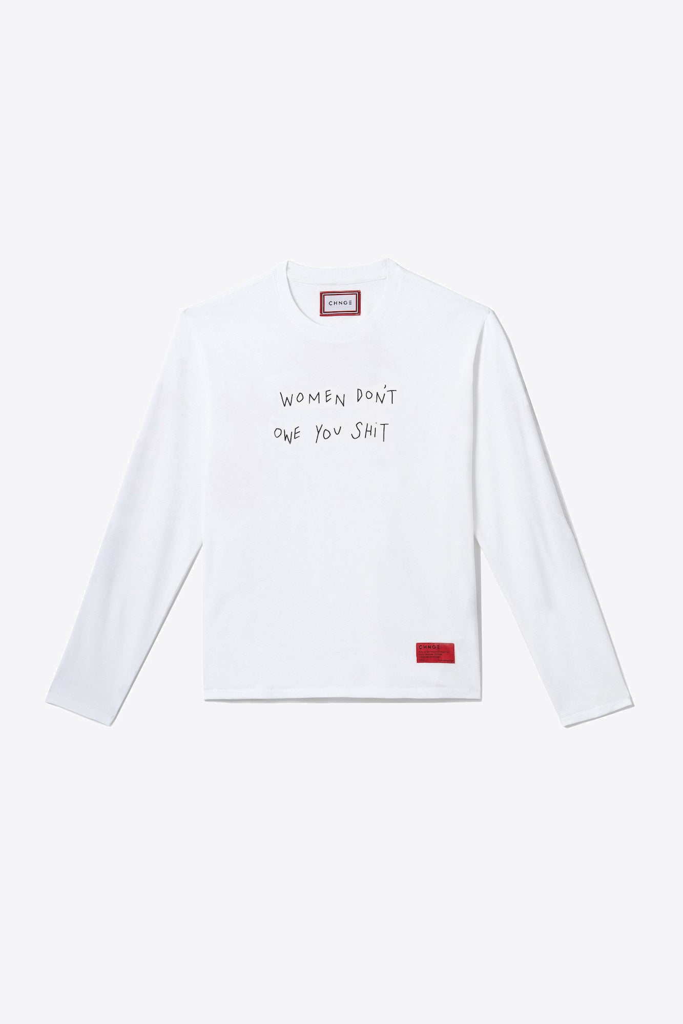 Women Don't Owe You Shit Long-Sleeve (White)