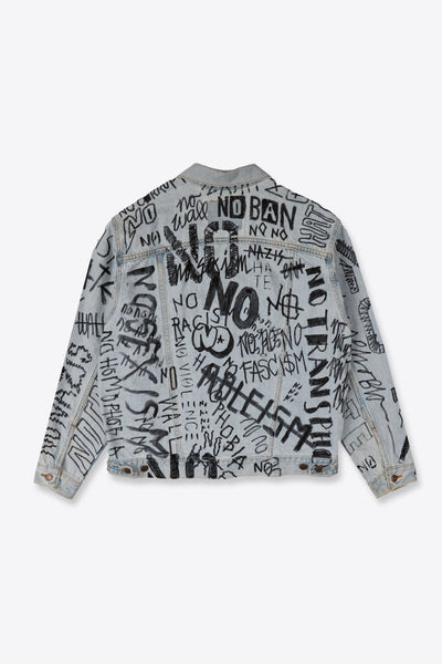 No No NO Re-worked Denim Jacket