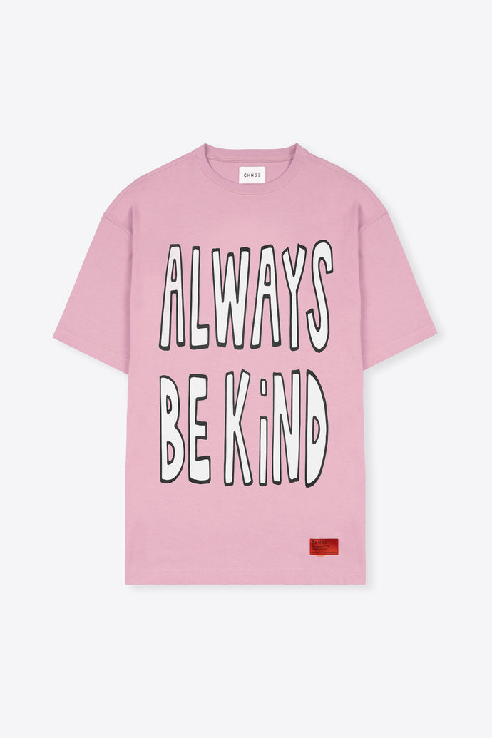 Always Be Kind T-Shirt Dress (Mauve)