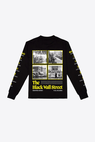 Black Wall Street L/S T-Shirt (Black)
