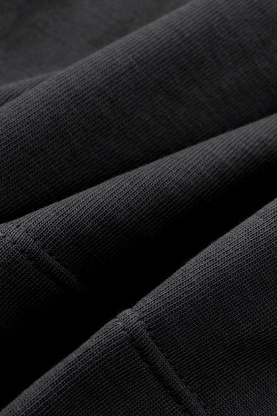 Black Tonal Crop