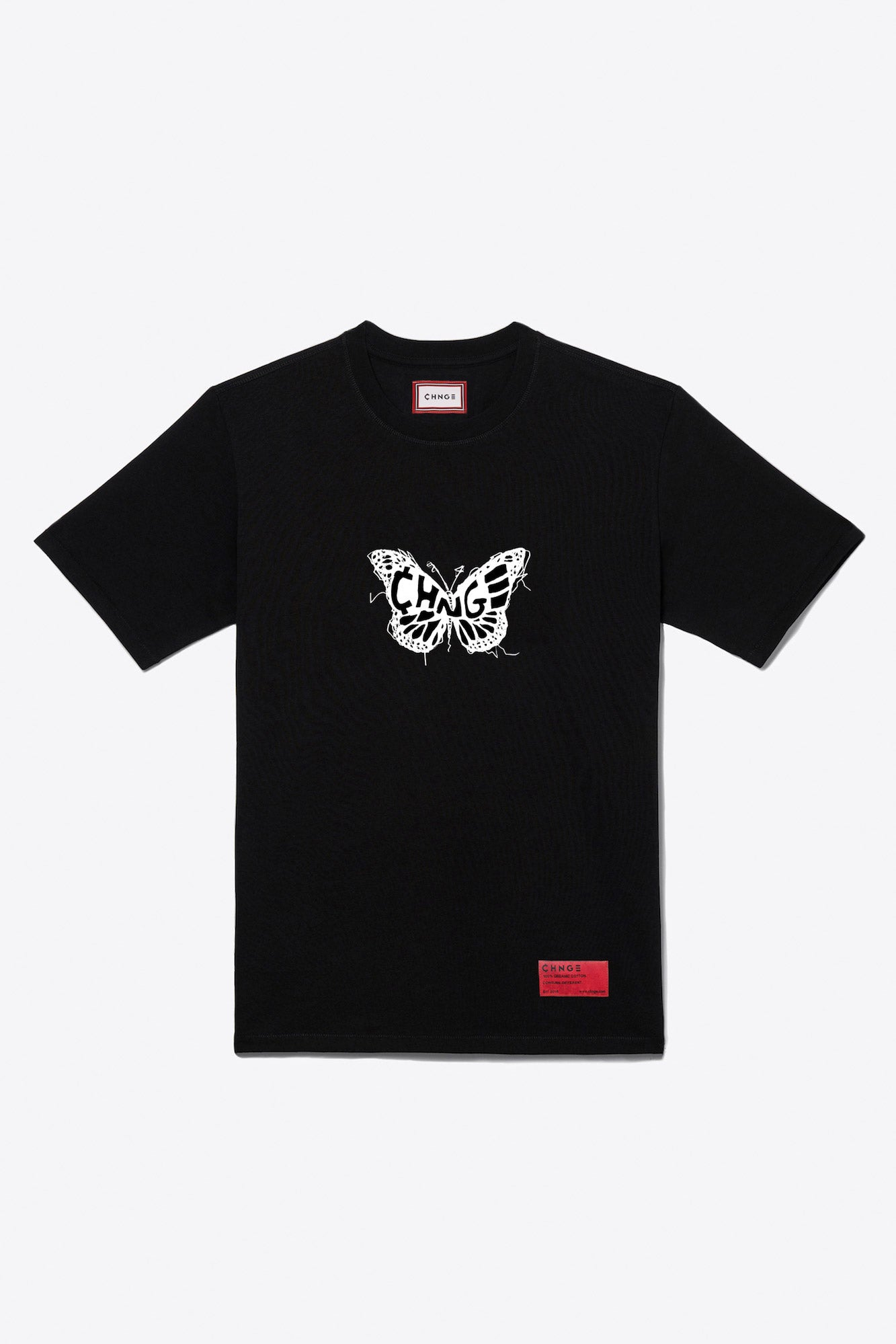 Logo Butterfly S/S T-Shirt (Black)