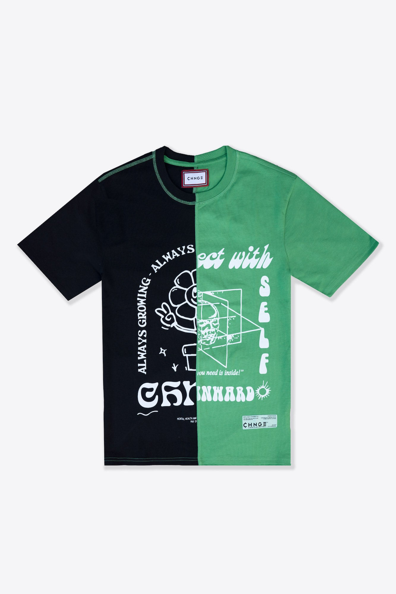 MHA Black/Kelly Green Pieced S/S T-Shirt