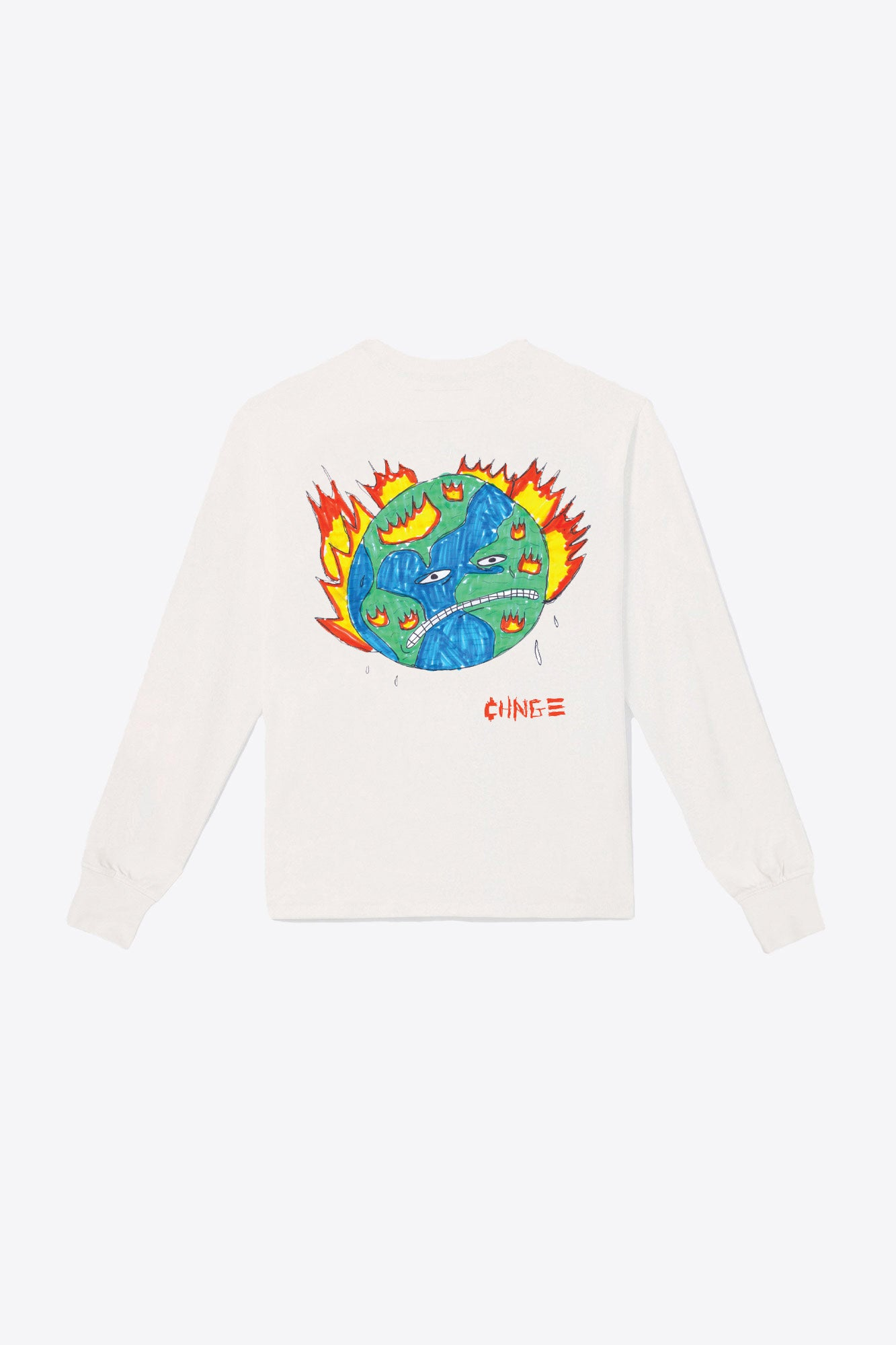 Global Warming Pocketed L/S Tee (Chalk)
