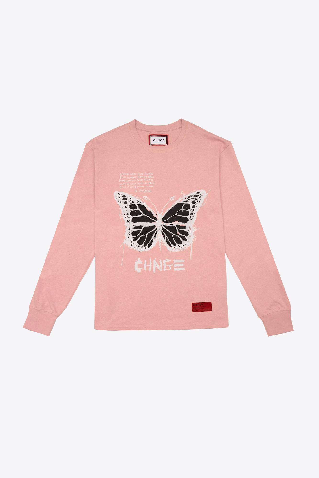 Butterfly Quote Cuffed L/S T-Shirt