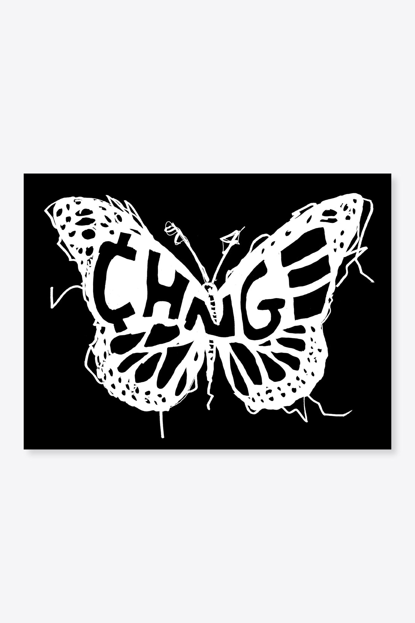 Butterfly Logo Sticker