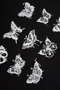 Embroidered Butterfly Crop