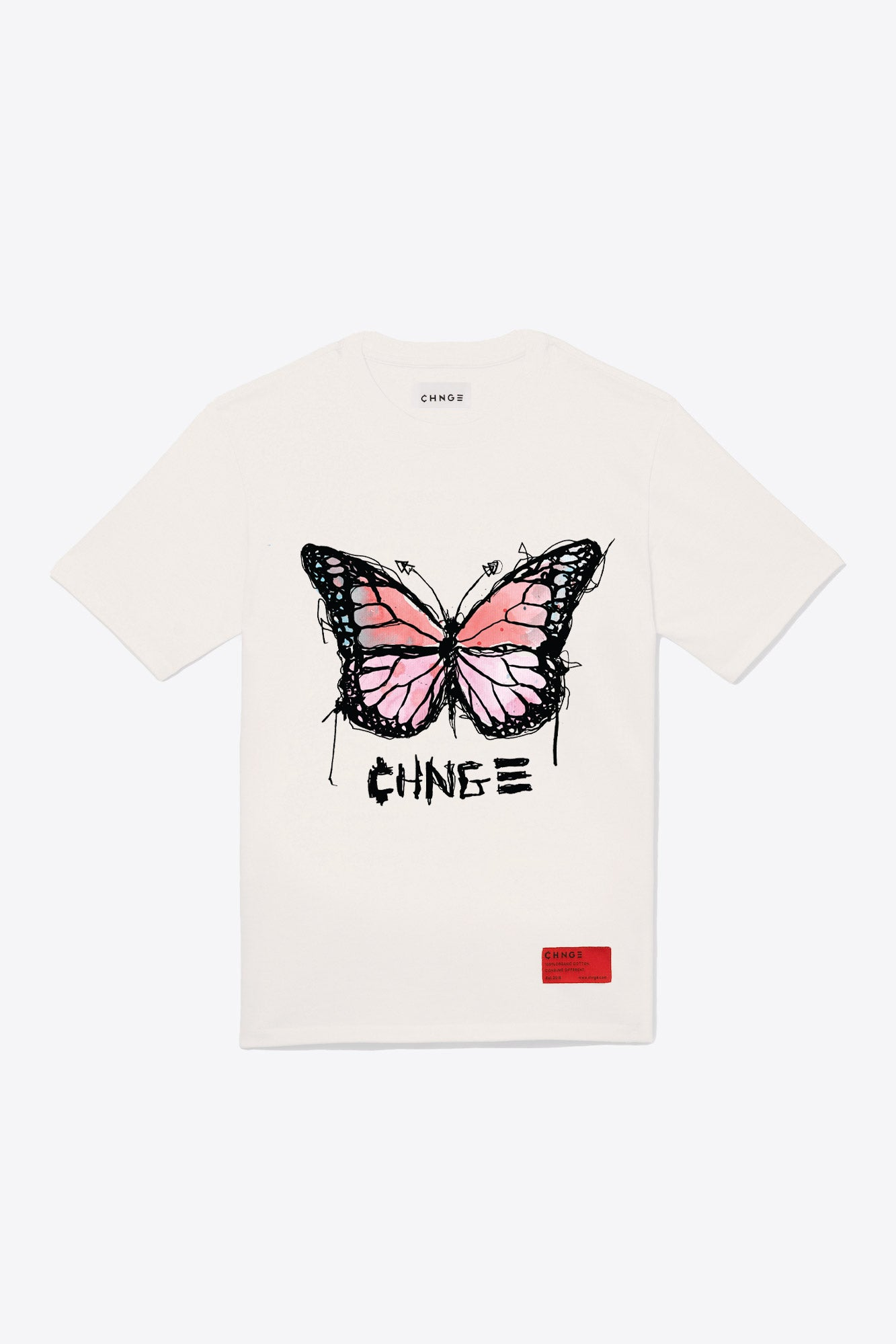 Butterfly Quote Tee (Chalk)