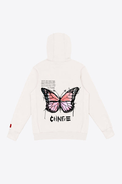 Chalk Butterfly Quote Hoodie