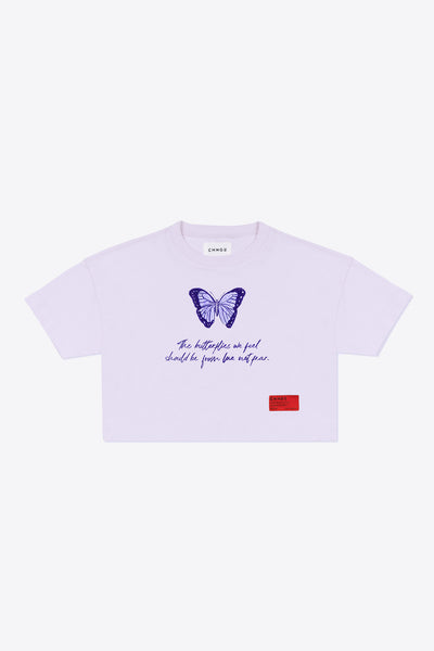 Butterflies We Feel Crop Top (Violet)