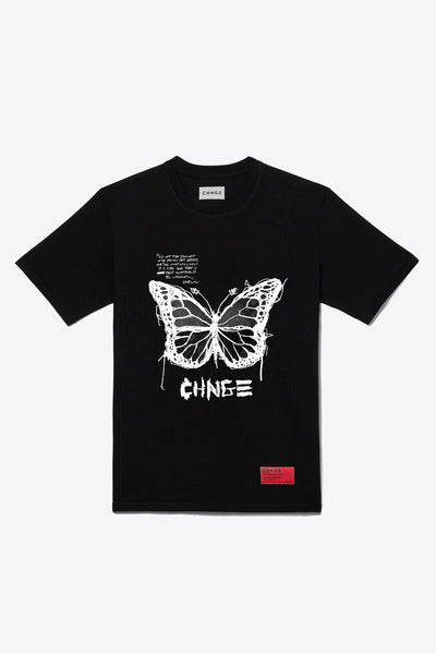 Butterfly Quote Tee (Black)
