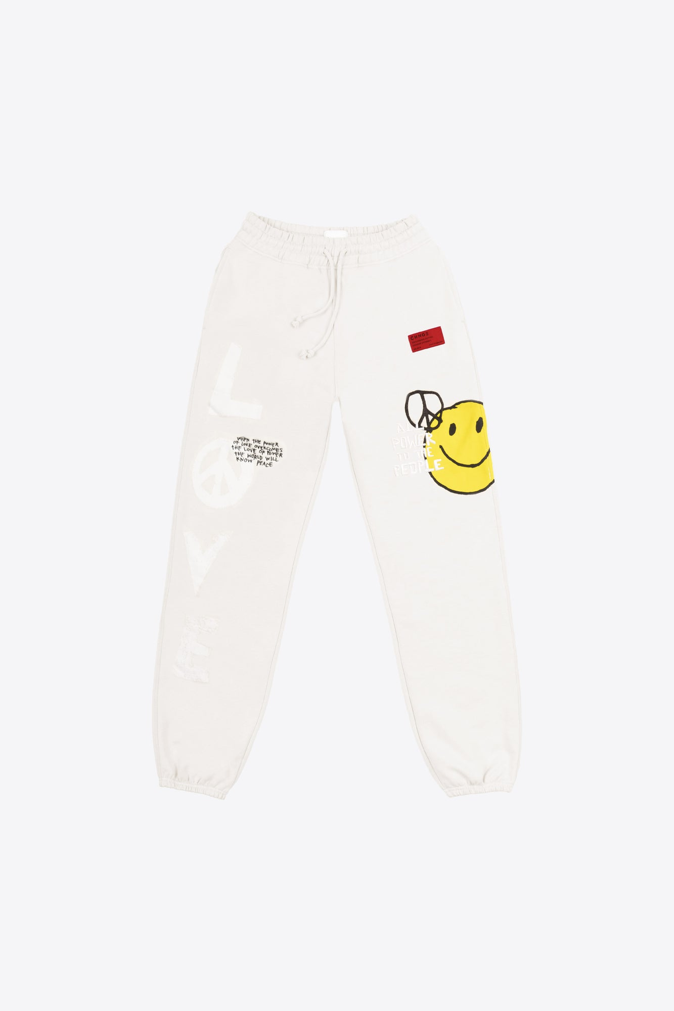Chalk Love Peace Sweatpants
