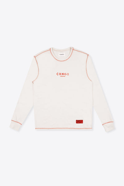 CHNGE Worldwide Contrast Stitch Tee (Chalk)