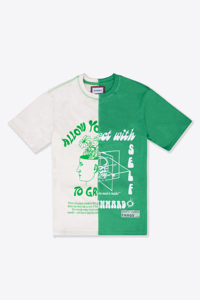 MHA Chalk/Green Pieced S/S T-Shirt