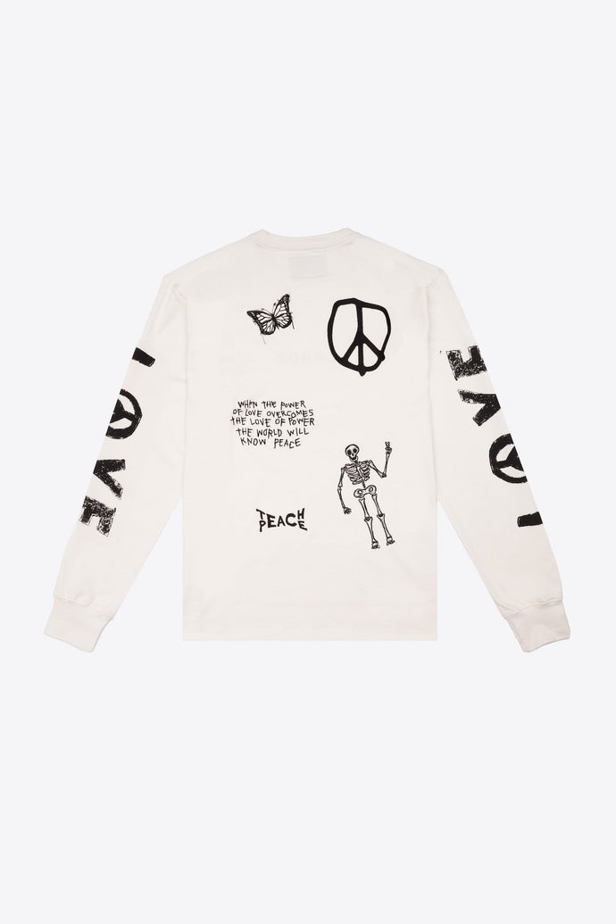 Love Peace Cuffed L/S T-Shirt