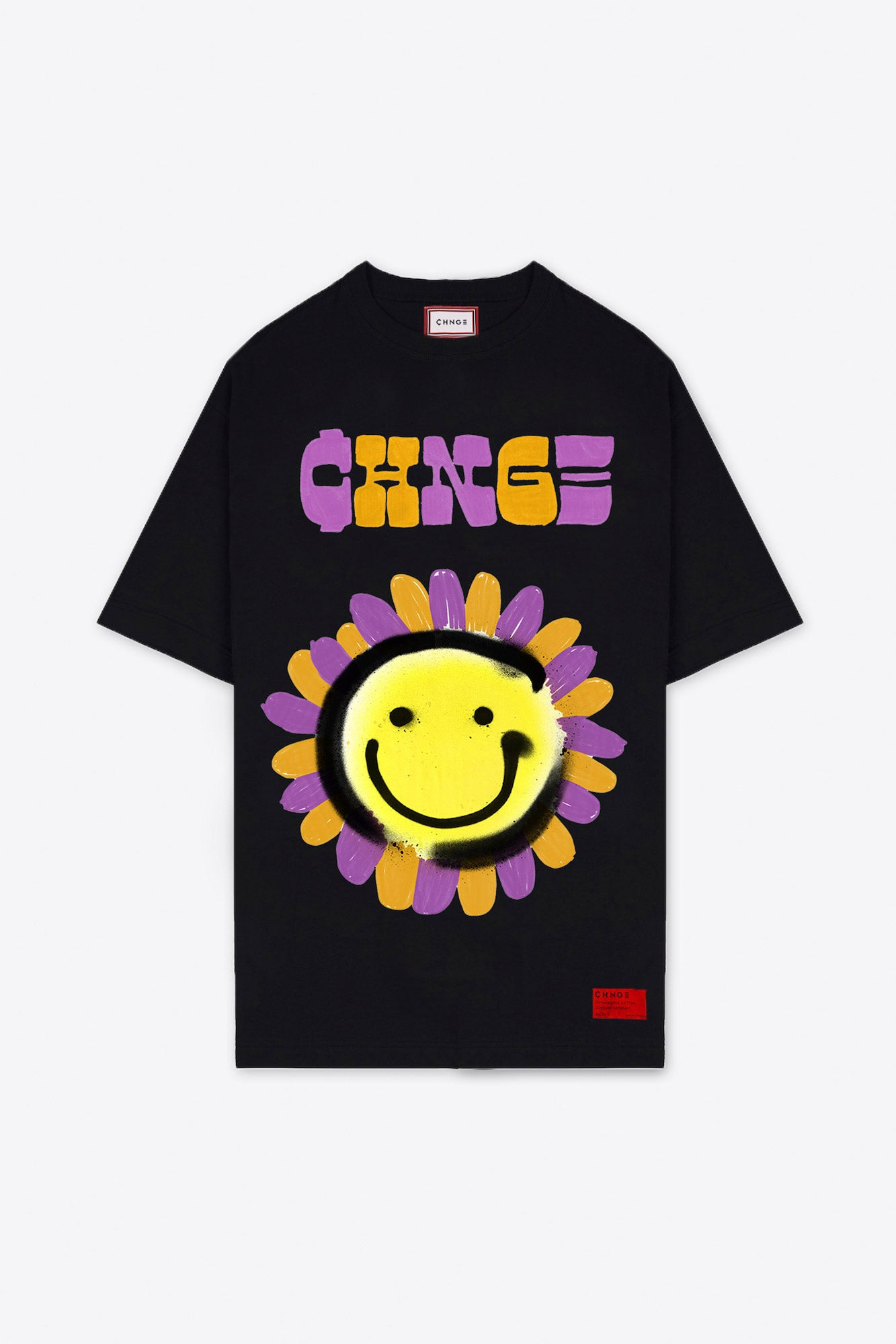 CHNGE Smiley Flower T-Shirt Dress