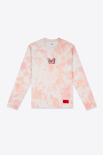 Long Sleeve Butterfly Tie Dye Tee