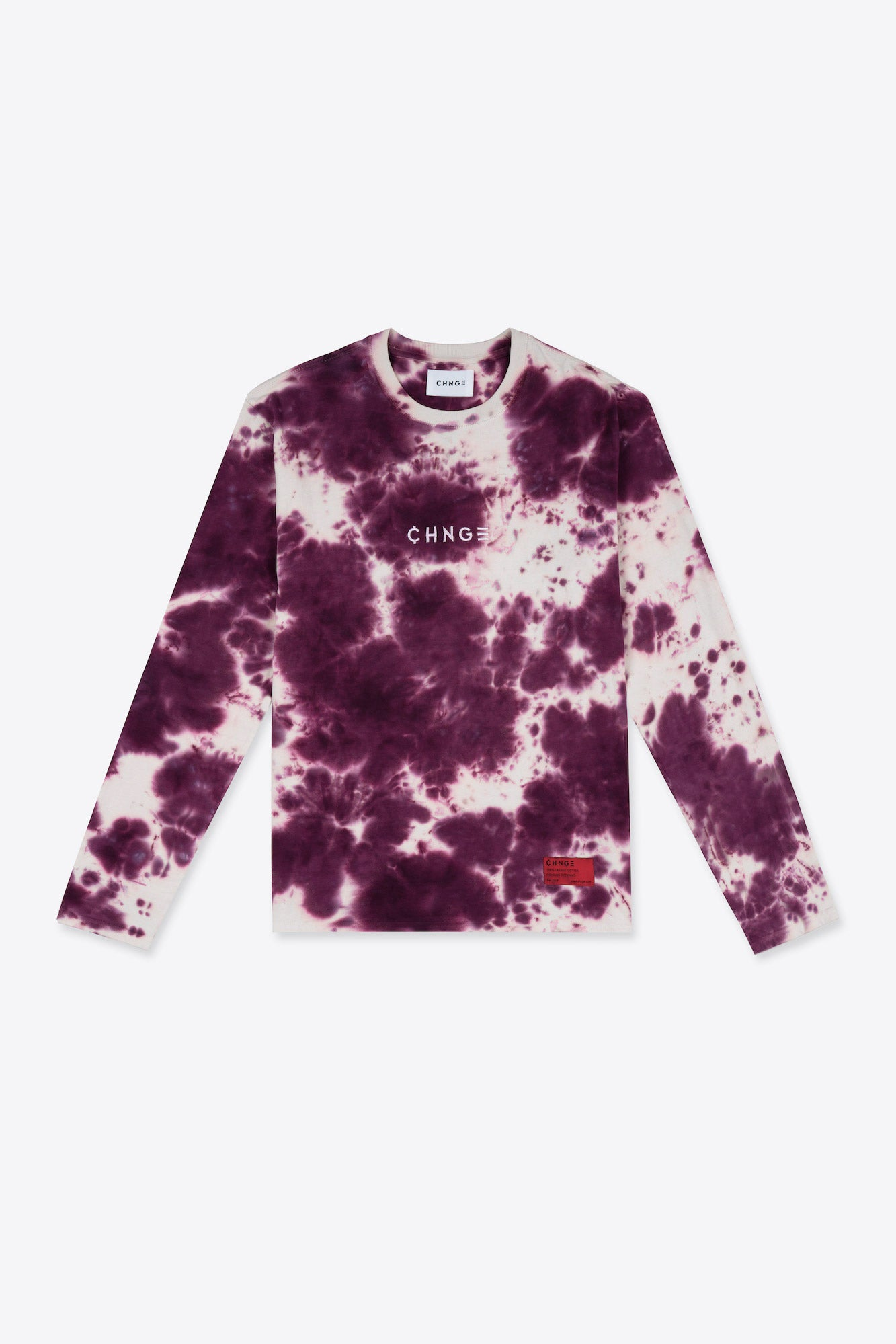 Long Sleeve Peace Tie Dye Tee