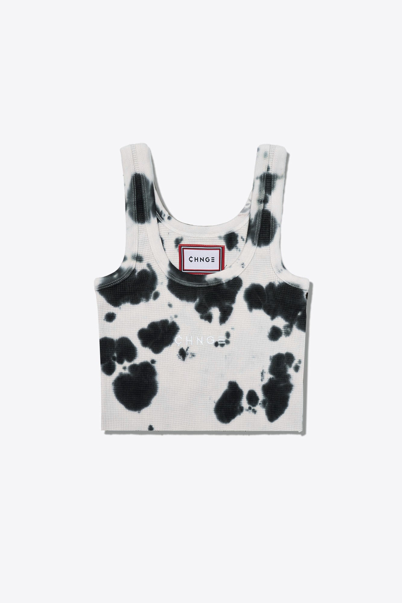 Tie Dye Logo  Ribbed Tank (Cookies & Cream)