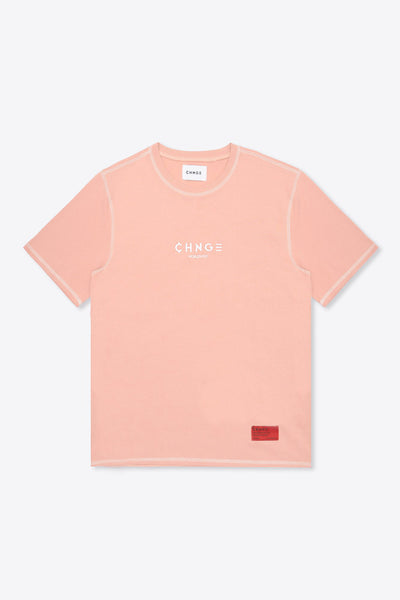 CHNGE Worldwide Contrast Stitch Tee (Coral)