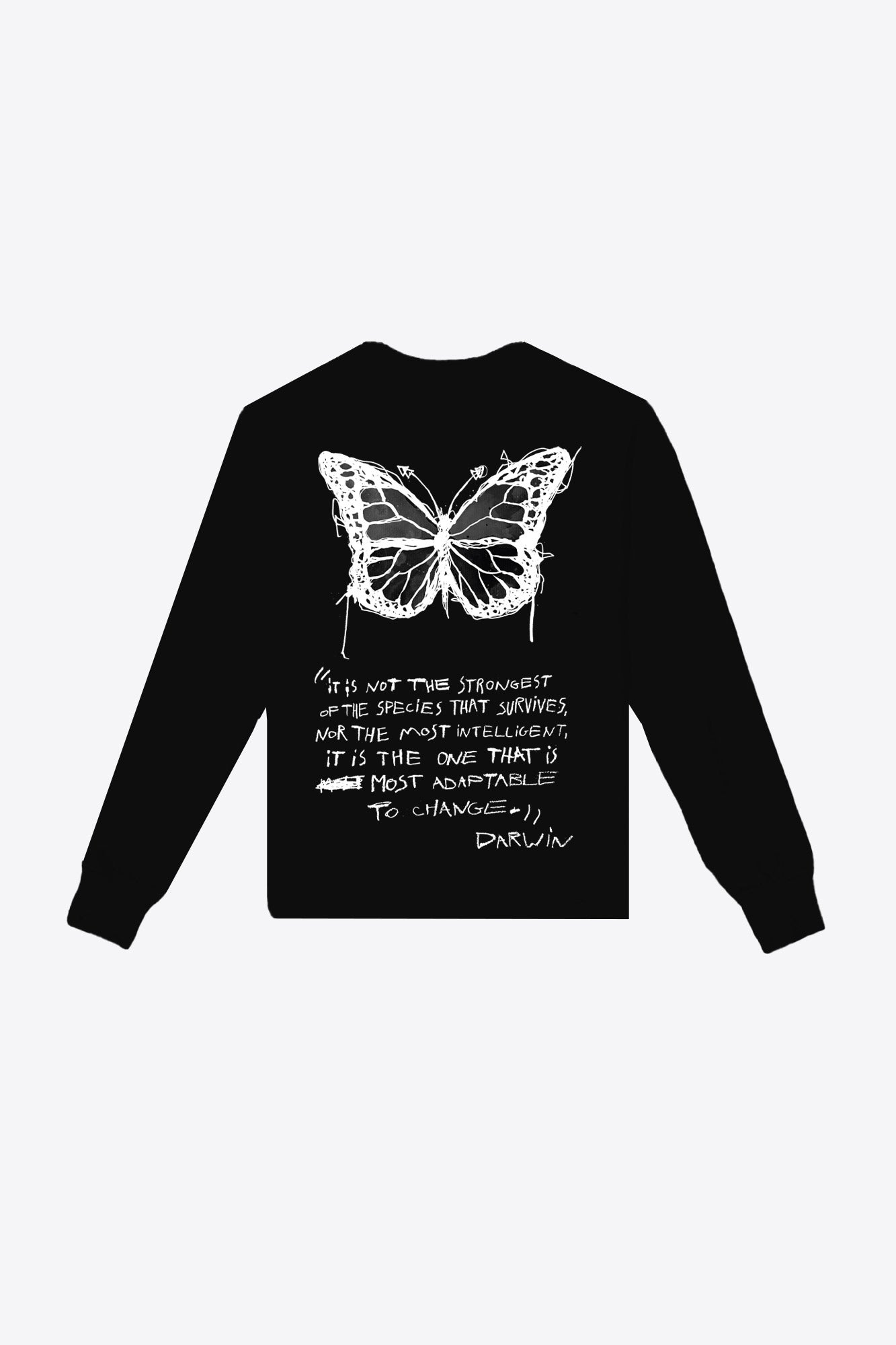 Butterfly Pocketed Tee (Black)
