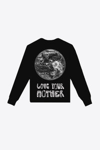 Zero Waste Love Your Mother Long Sleeve Tee (Black)