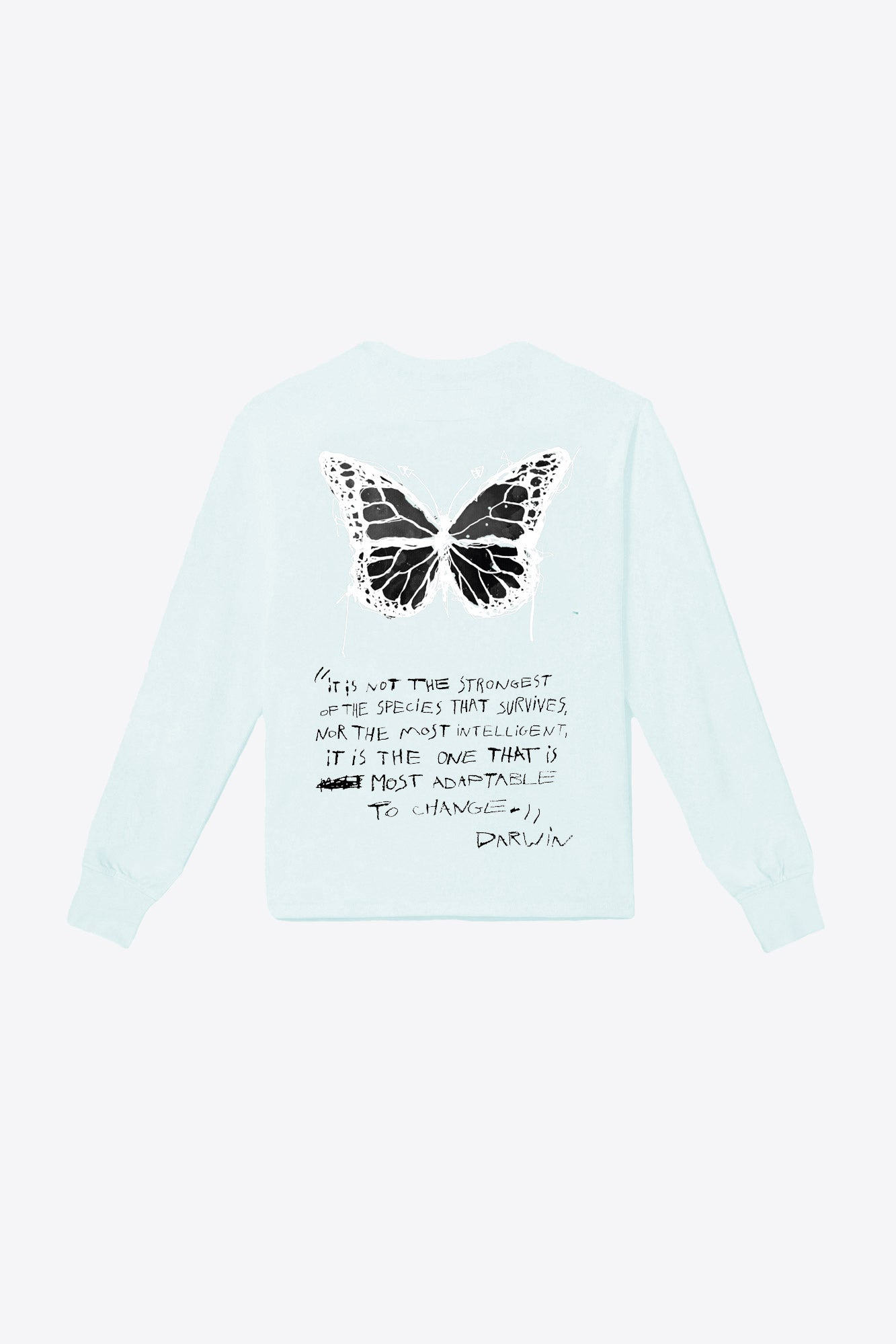 Butterfly Pocketed Tee (Mint)