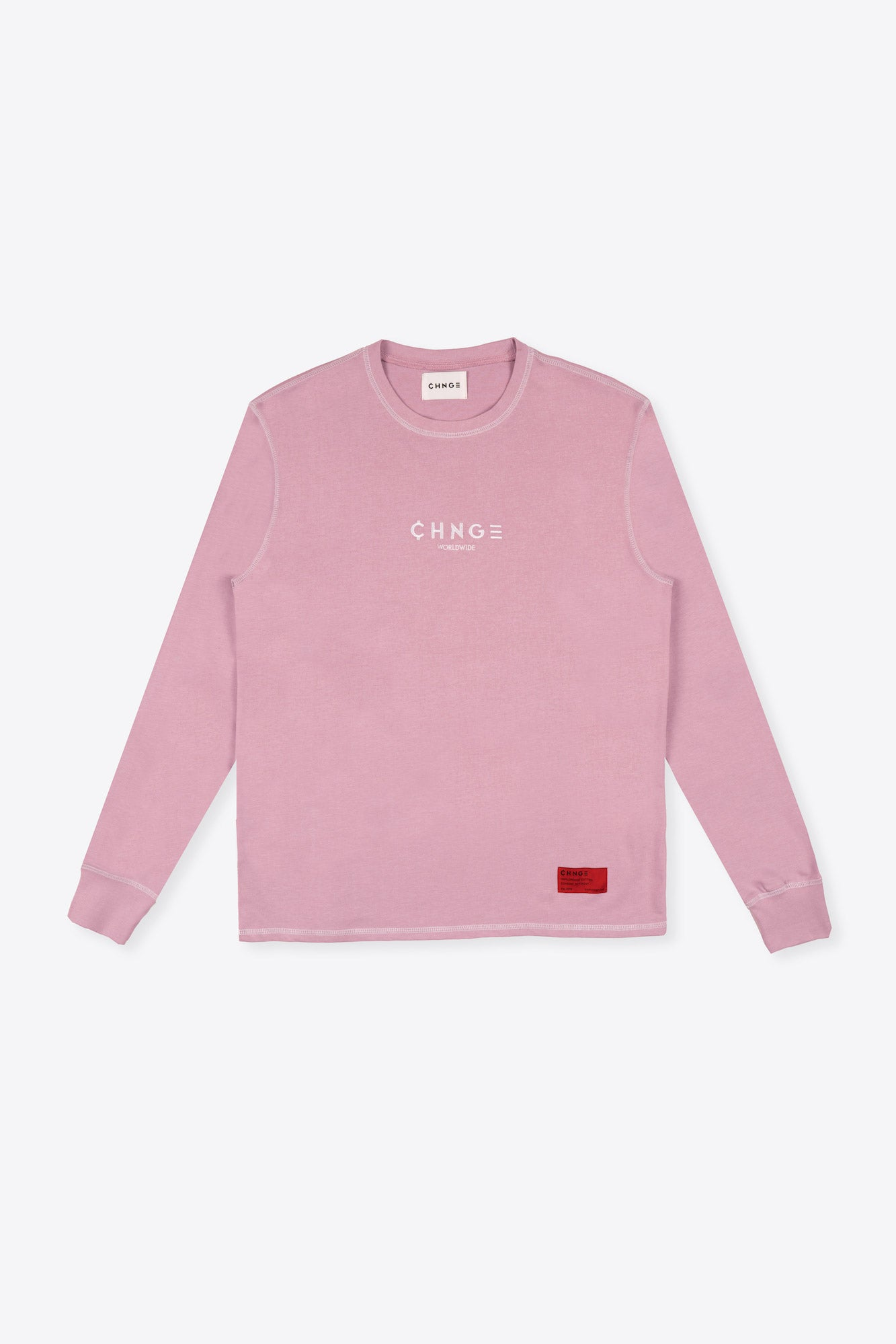 CHNGE Worldwide Contrast Stitch Tee (Mauve)