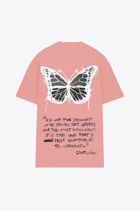 Butterfly T-Shirt Dress (Dusty Rose)
