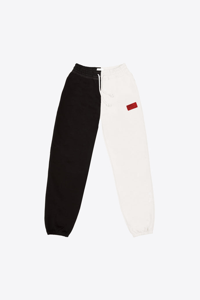 Black/Chalk Pieced Sweatpant