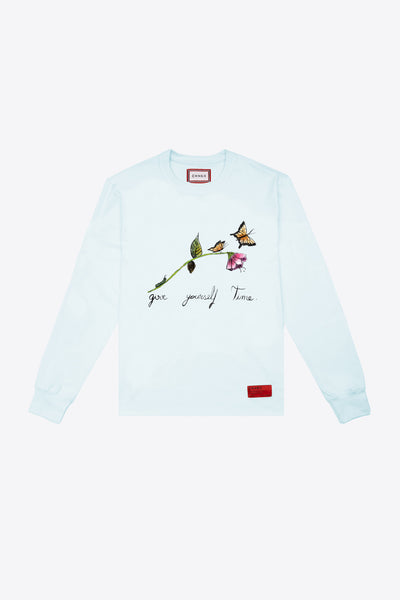 Give Yourself Time Cuffed L/S T-Shirt (Mint)