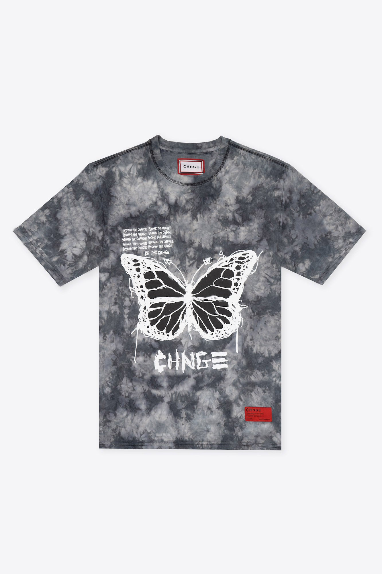 Tie Dye Become the CHNGE BF S/S T-Shirt (Black Marble)