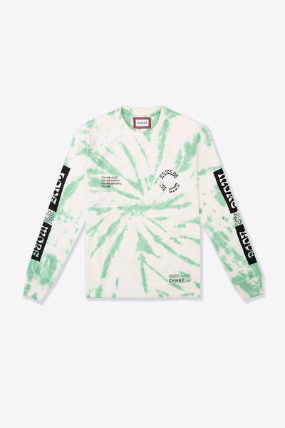 Love More Cuffed L/S T-Shirt (Green Spiral TD)