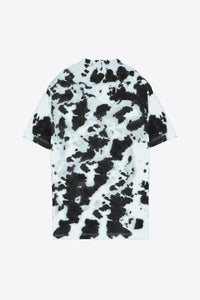 Tie Dye Butterfly T-Shirt Dress (Black/Mint)