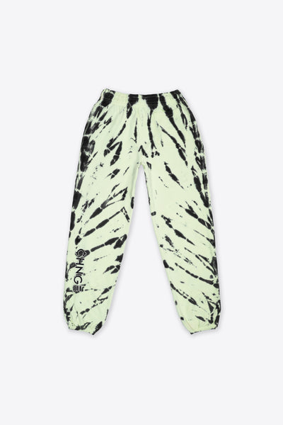 Lime Tiger Tie Dye University Sweatpant