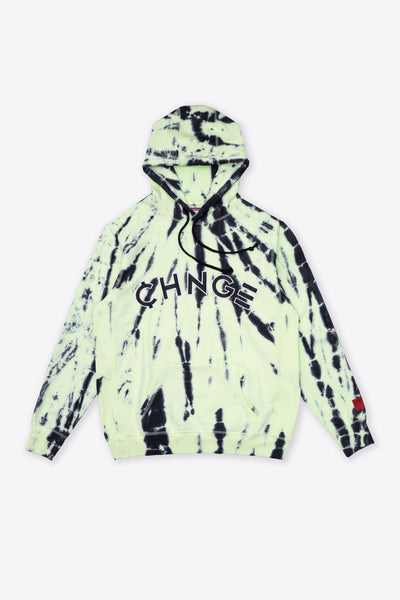 Lime Tiger Tie Dye University Hoodie