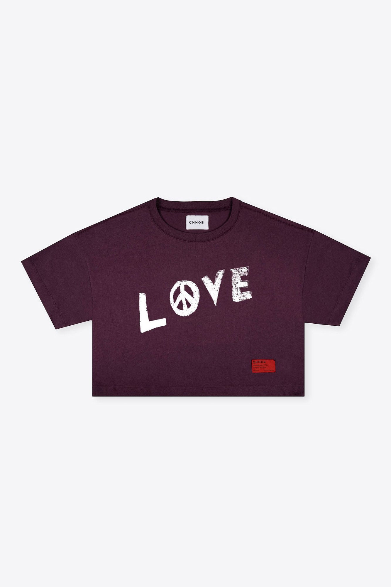 Love Peace Crop (Maroon)