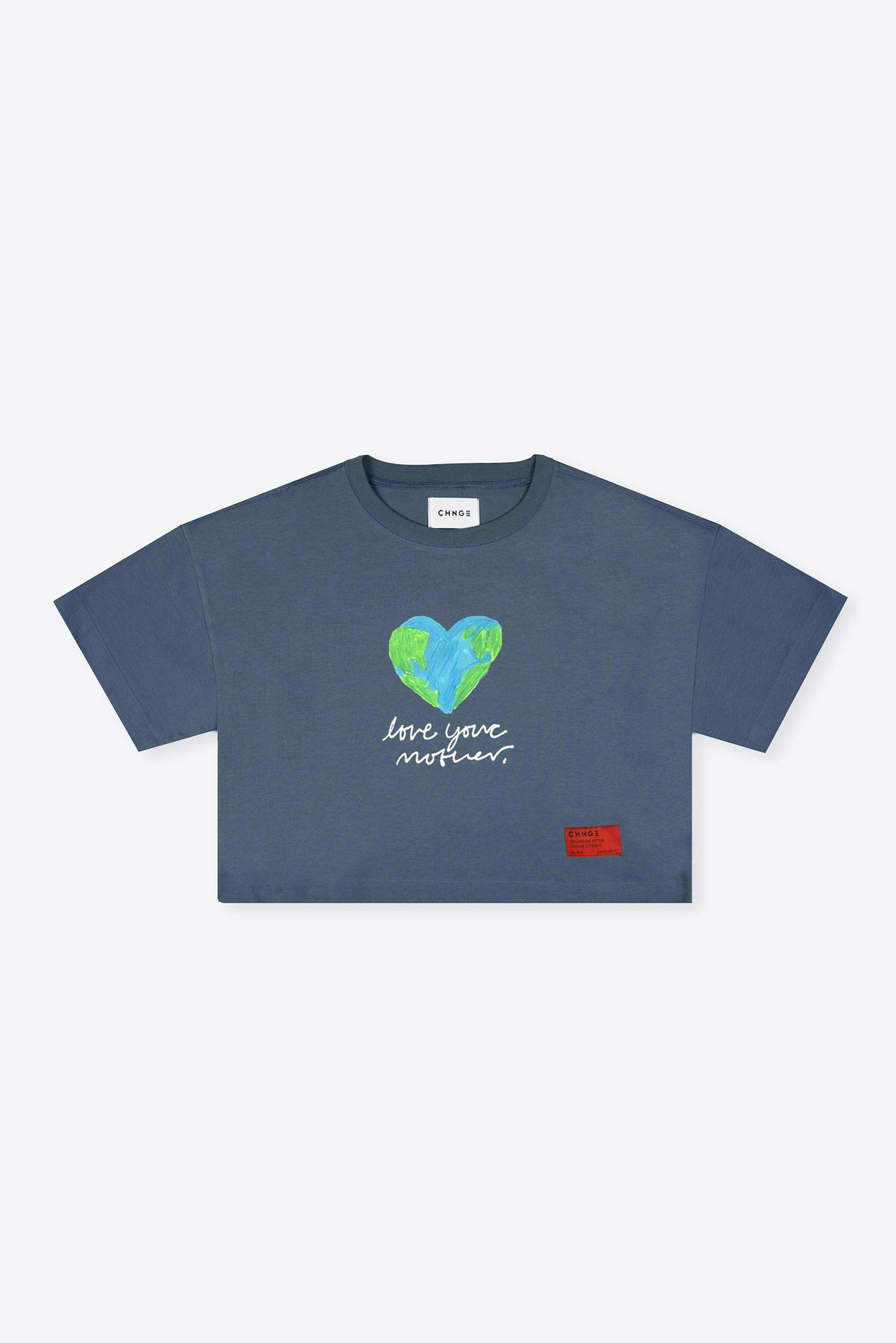 Love Your Mother Crop (Dark Teal)